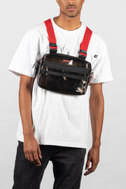 Transparent Chest Utility Bag (Black)