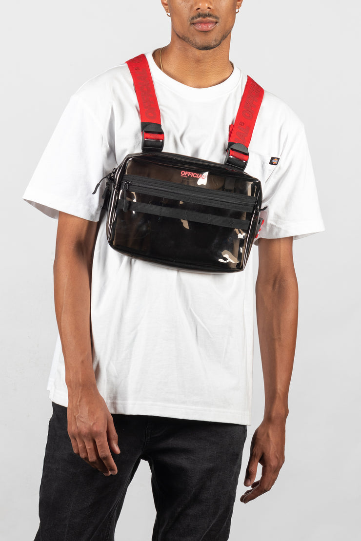 Transparent Utility Chest Bag (Black)