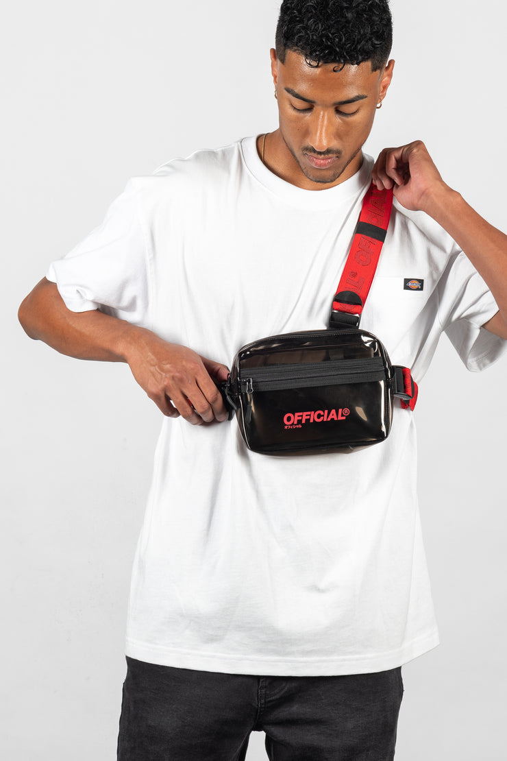 Transparent Tri-Strap Chest Utility Bag (Black)
