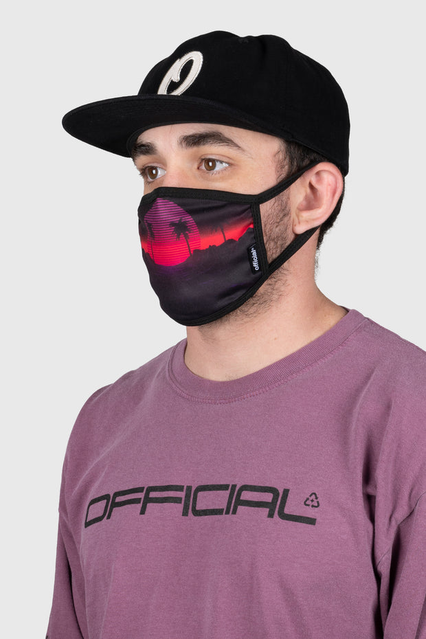 Vaporwave Face Mask