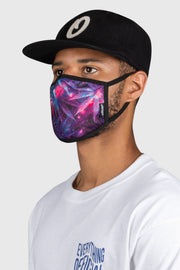 Space Weed Face Mask - Purple