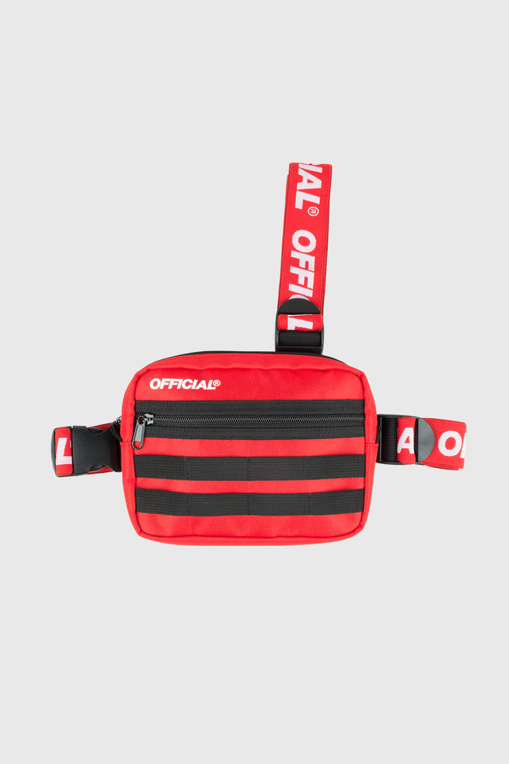 Piste Tri-Strap Chest Utility Bag (Red)