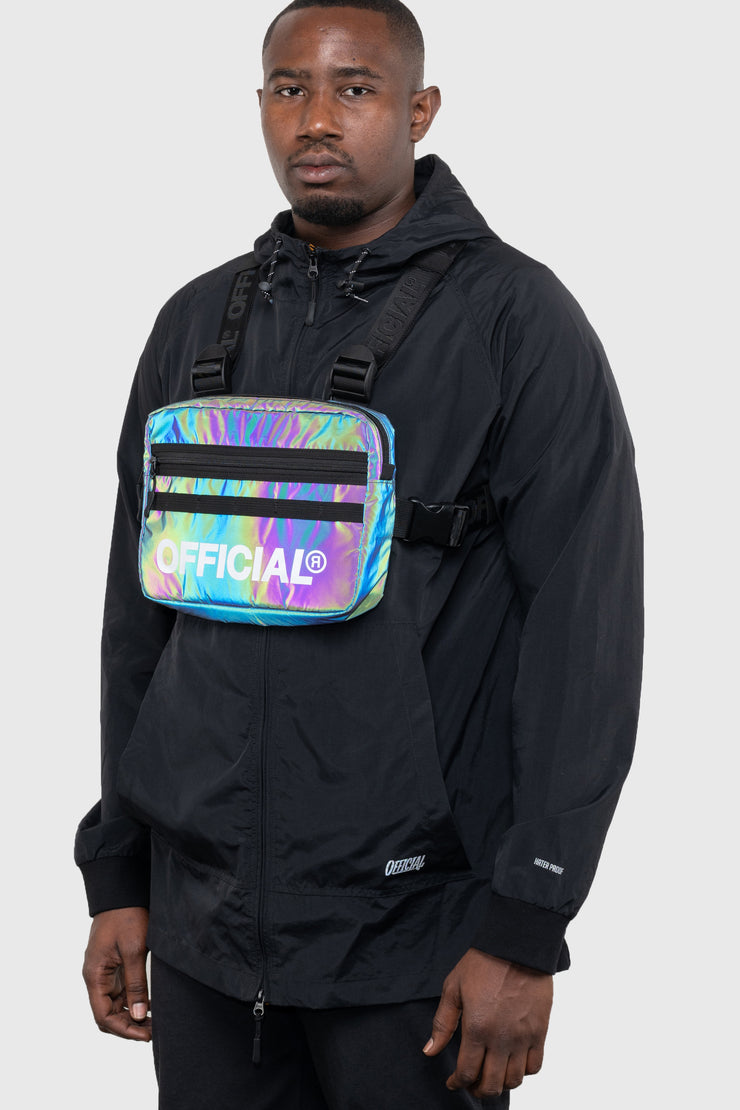 RFLCTIV Rainbow Reflective Chest Bag