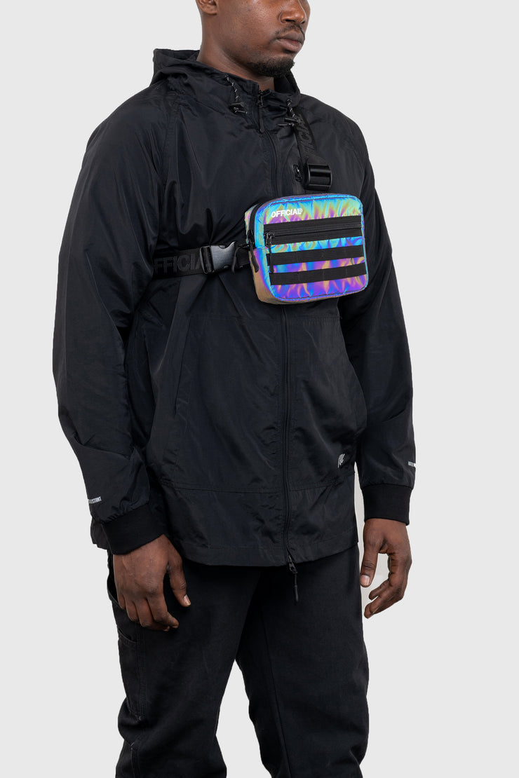RFLCTIV Squid Ink Dichroic Reflective Tri-Strap Chest Utility Bag