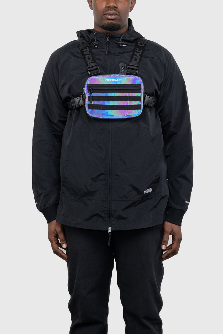 RFLCTIV Rainbow Reflective Mini Chest Bag