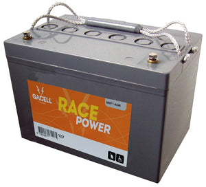 12 volt 60 ah AGM forbrugsbatteri race power Gacell batterier