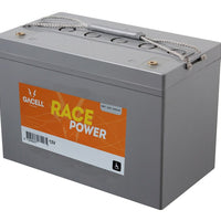 12 volt 65 ah AGM forbrugsbatteri race power Gacell batterier