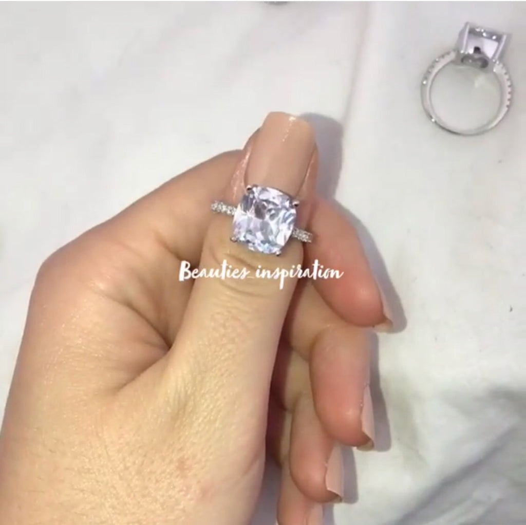 Bague carree Full Diamond