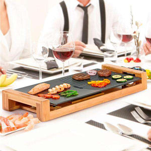 Plancha Grill Princess 103025 1800W Bambú Cerámica Negro - Shoppinghappylife