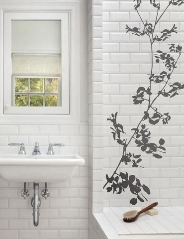 Blossom in the bathroom - wall sticker