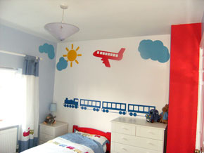 Aircraft kids wall stickers