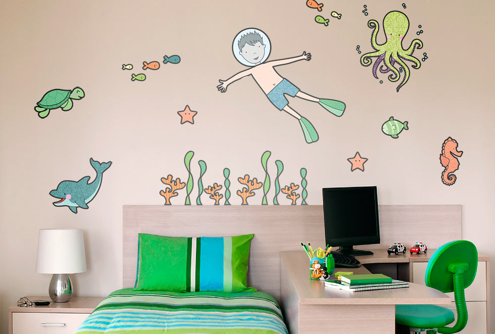 Under the sea - wall sticker
