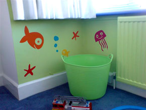 Underwater wall stickers