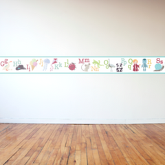 Alphabet Picture Border Wall Sticker