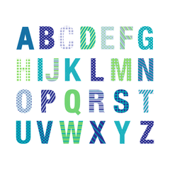ABC Letters Wall Stickers Custom Text