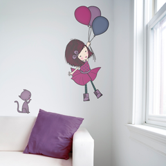 Balloon Girl Wall Sticker
