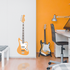 Bass Guitar Wall Sticker