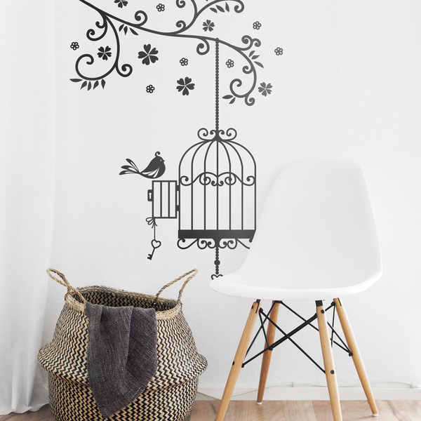 Bird Cage Wall Sticker