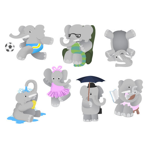 Elephant Family Wall Stickers - Wall Glamour