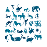ABC Animal Wall Stickers - Patterned