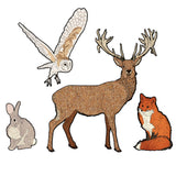 Stag, Owl, Fox and Rabbit Wall Sticker - Saver Set