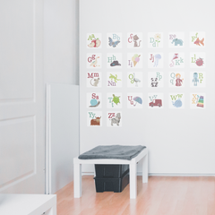 Alphabet Pictures Wall Stickers