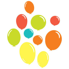 Multicoloured balloons wall art