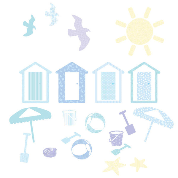 Beach Wall Sticker Set Multicoloured