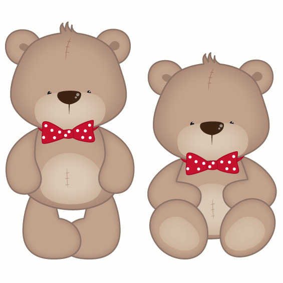 Boy Teddy Bear Wall Sticker Multicoloured