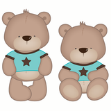 Boy Teddy Bear Wall Sticker