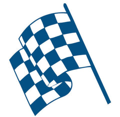 Chequered Flag Wall Sticker