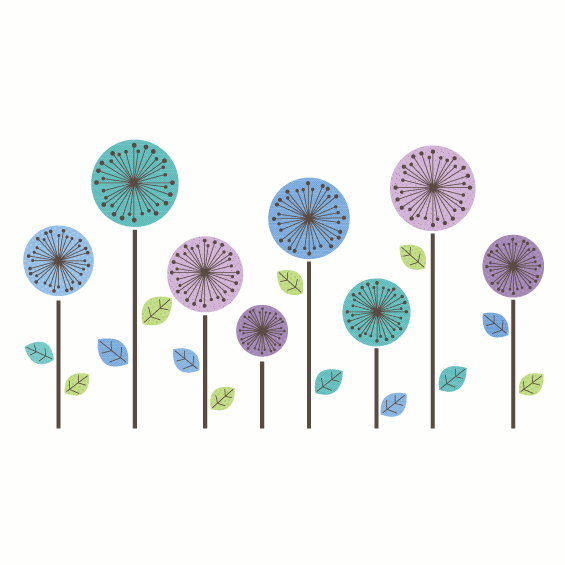Circle Flowers Wall Sticker