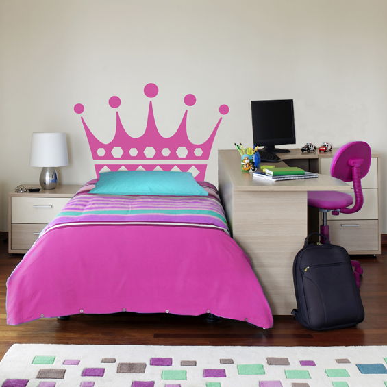 Crown Bed Head Wall Sticker - Wall Glamour