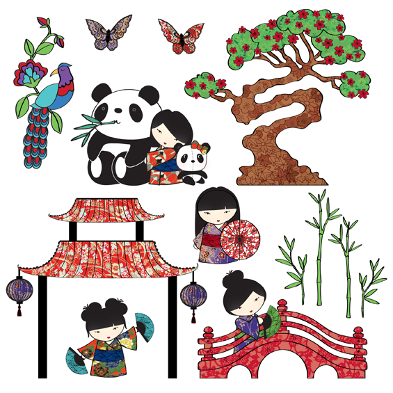 Japan Wall Sticker Set