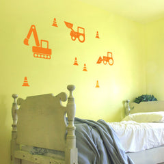 Digger Wall Stickers (Single Colour)