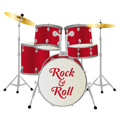 Drum Kit Wall Sticker