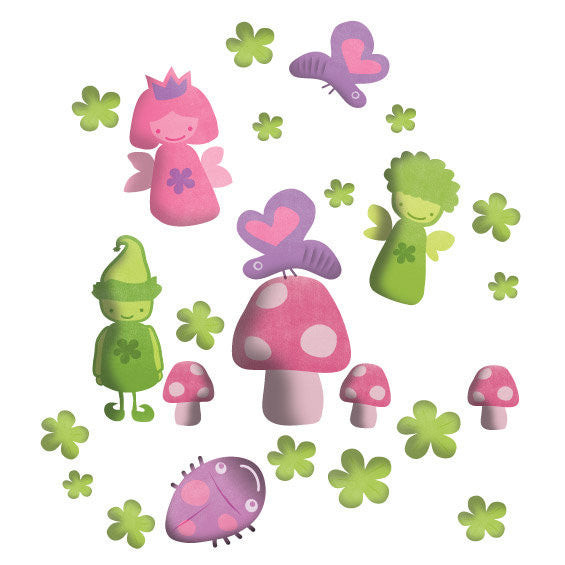 Fairy Wall Stickers Multicoloured - Wall Glamour