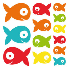 Fish Wall Stickers Multicoloured