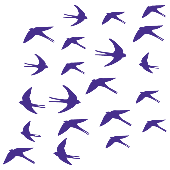 Flock of Swallows Wall Stickers