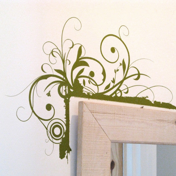 Floral Corners Wall Stickers