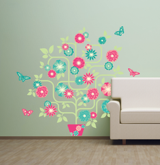 Flower Tree Wall Sticker