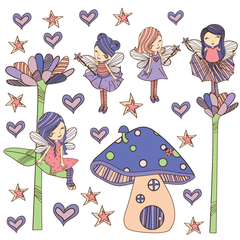 Garden Fairies Wall Stickers