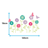 Garden Flowers Wall Stickers