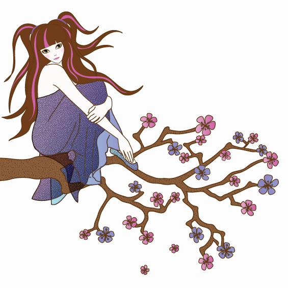 Girl on a Branch Wall Sticker - Wall Glamour