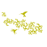 Hummingbird wall stickers