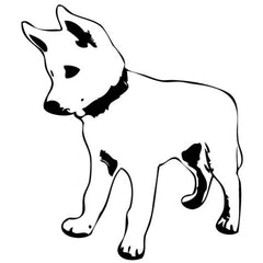 Husky Dog Wall Sticker
