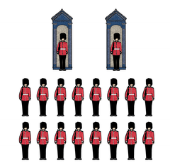 London Soldiers Wall Stickers
