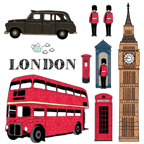 London Wall Stickers - Wall Glamour