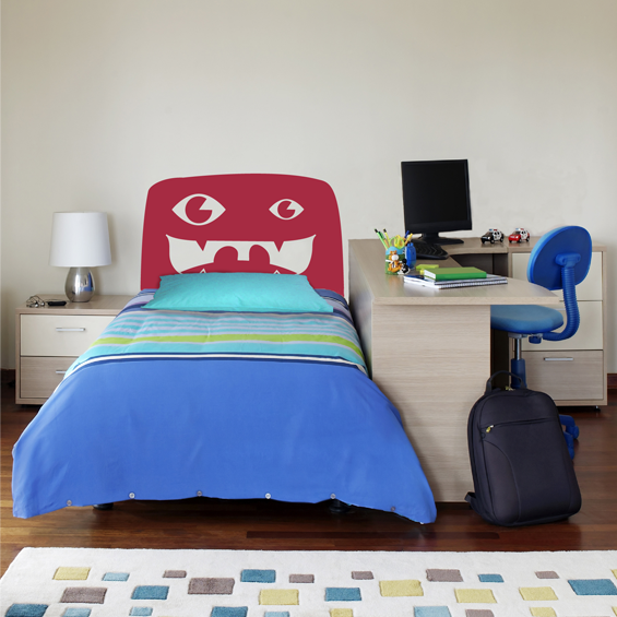 Monster Bed Head Wall Sticker