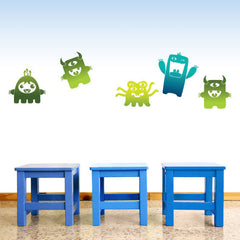 Monster Wall Stickers Multicoloured